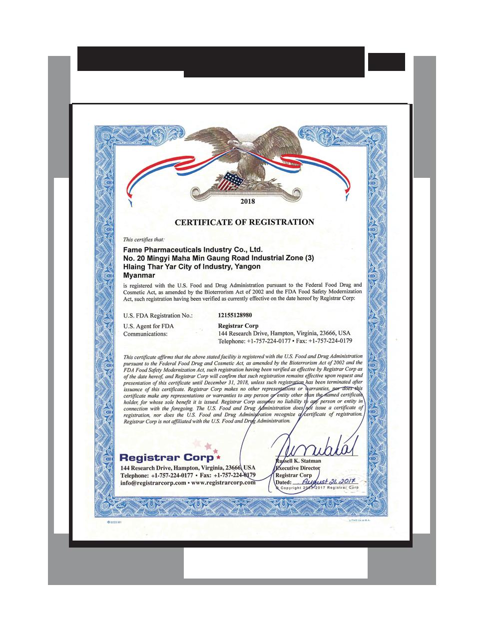 Certificates & Awards